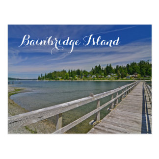 Bainbridgeの島の西の港マディソン ポストカード