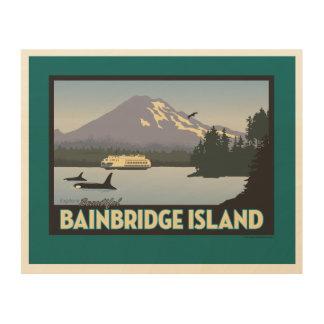 Bainbridgeの島はポスター芸術のレトロスタイルを作りました ウッドウォールアート
