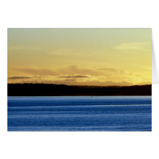 Bainbridgeの島上の日没 カード