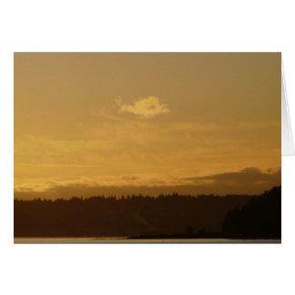 Bainbridge上の日没 カード