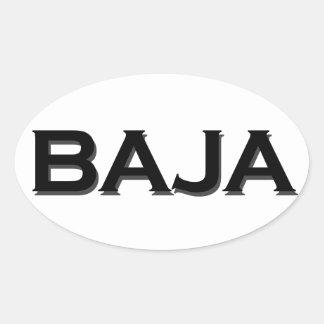 Bajaの楕円形のロゴ 楕円形シール