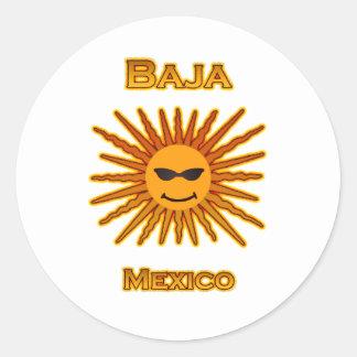 Bajaメキシコ日曜日はアイコンに直面します ラウンドシール