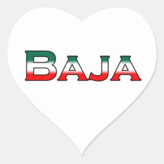 Bajaメキシコ(文字のロゴ) ハートシール