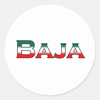 Bajaメキシコ(文字のロゴ) ラウンドシール