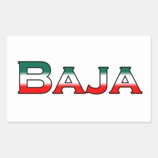 Bajaメキシコ(文字のロゴ) 長方形シール