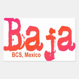 Baja、BCS、メキシコ 長方形シール
