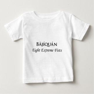 Bājíquánの黒のプリント ベビーTシャツ