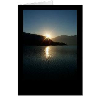 baker湖-パノラマポイント-日の出のメッセージカード カード