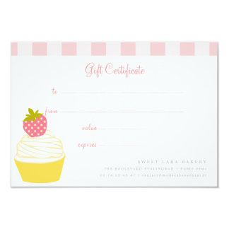 Bakery Cafe Retro Sweet Cupcakes Cute Gift Card カード