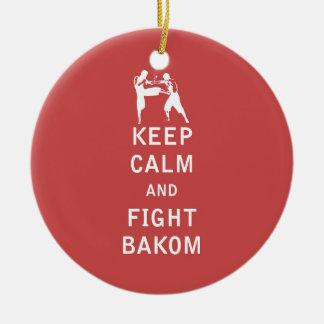 Bakom穏やか、戦い保って下さい セラミックオーナメント