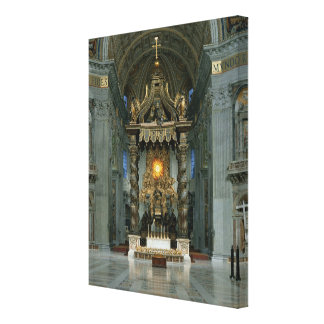 Baldacchino、主祭壇および椅子 キャンバスプリント