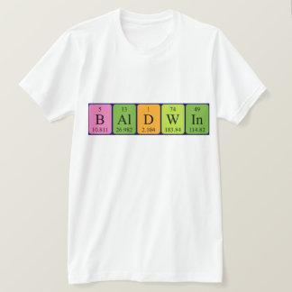 Baldwinの周期表の名前のワイシャツ Tシャツ