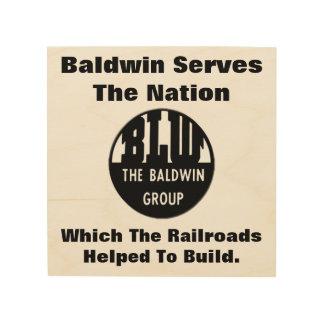 Baldwinは国家に役立ちます ウッドウォールアート