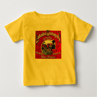 Baldwin機関車が付いている砂糖きびの列車 ベビーTシャツ