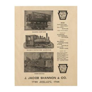 Baldwin機関車は建築業者の機関車を働かせます ウッドウォールアート