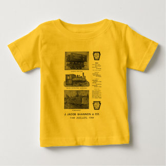 Baldwin機関車は建築業者の機関車を働かせます ベビーTシャツ