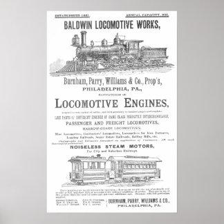 Baldwin機関車は鉄道機関車を働かせます ポスター