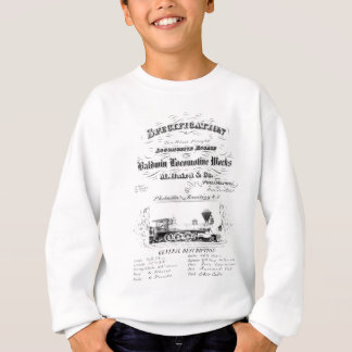 Baldwin機関車は1868年を働かせます スウェットシャツ