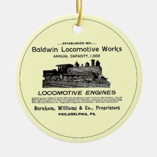 Baldwin機関車は1895の円のオーナメントを働かせます セラミックオーナメント