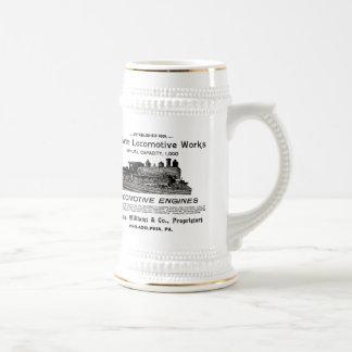 Baldwin機関車は1895年のビールをステイン働かせます ビールジョッキ