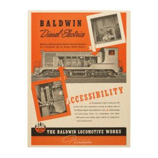 Baldwin機関車は1948年を働かせます ウッドウォールアート