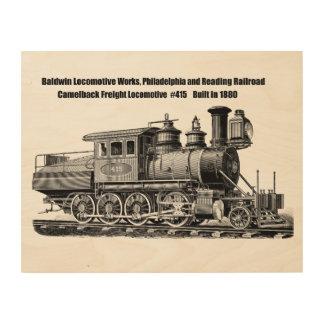 Baldwin機関車はCamelback #415を働かせます ウッドウォールアート