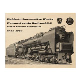 Baldwin機関車はS-2 PRRの蒸気タービンを働かせます ウッドウォールアート