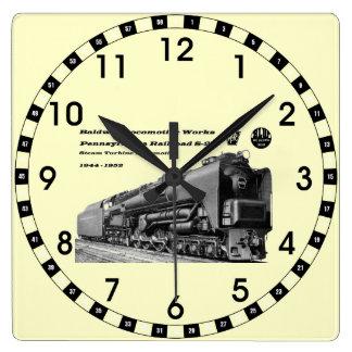 Baldwin機関車はS-2 PRRの蒸気タービンを働かせます スクエア壁時計