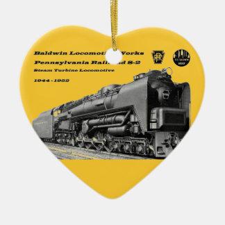 Baldwin機関車はS-2 PRRの蒸気タービンを働かせます セラミックオーナメント