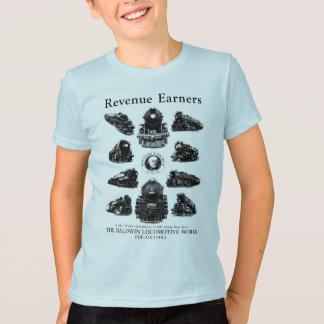 Baldwin機関車、収入かせぐ人 Tシャツ