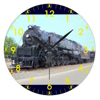 Baldwin-の読書鉄道機関車2124 ラージ壁時計