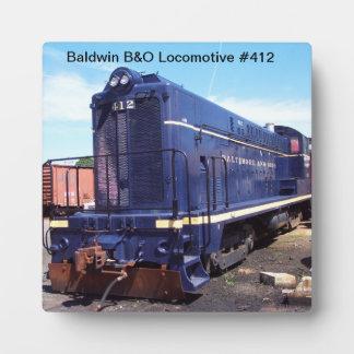Baldwin B&Oのロコモーティブ#412プラク フォトプラーク