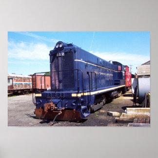 Baldwin B&O機関車412ポスター ポスター