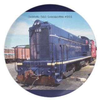 Baldwin B&O機関車#412のプレート プレート