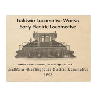 Baldwin Westinghouseの電気機関車1893年 ウッドウォールアート