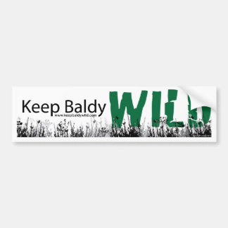 Baldyの野生のバンパーステッカーを保って下さい バンパーステッカー