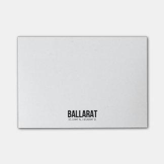 Ballaratの観光事業のCoodinatesの付箋のパッド ポストイット