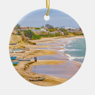 Ballenitaのビーチサンタエレナエクアドル セラミックオーナメント
