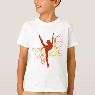Ballerina Elegant Swirls Tシャツ