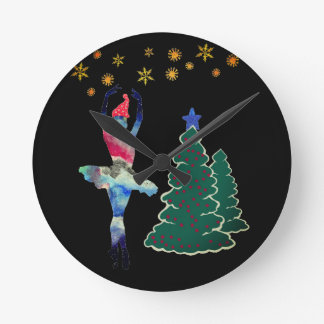 Ballerina New Year Round (Medium) Wall Clock ラウンド壁時計