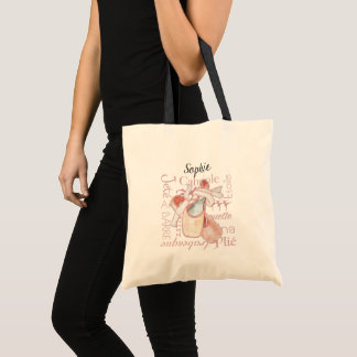 Ballet Dancer Personalized Moves Terminology Bag トートバッグ
