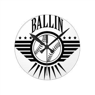 ballin 1.png ラウンド壁時計