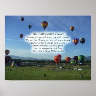 Balloonistの祈りの言葉ポスター ポスター