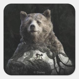 Baloo及びMowgli |ジャングルの本 スクエアシール