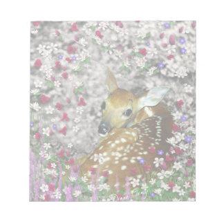 Bambina花Iの白後につかれた子鹿 ノートパッド