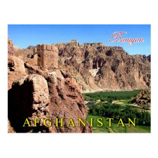 BamyanのBamyan地域、アフガニスタン ポストカード
