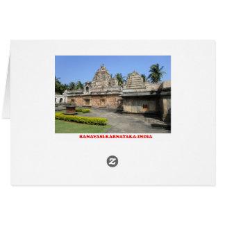 banavasiのカルナータカ州インドの観光客の座席表 カード