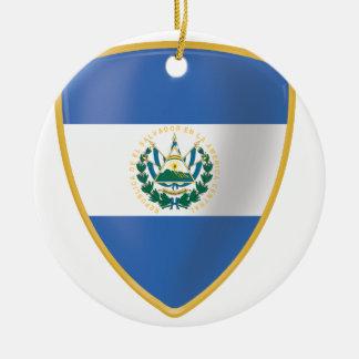 Bandera deエルサルバドル セラミックオーナメント