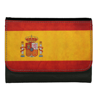 Bandera de Espanaa -スペインのレトロのグランジな旗 ウォレット