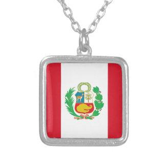 Bandera del Peru? -ペルーの旗 シルバープレートネックレス